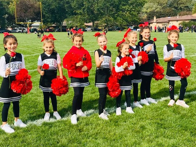 Park Ridge Spirit Cheer Team on Sidelines